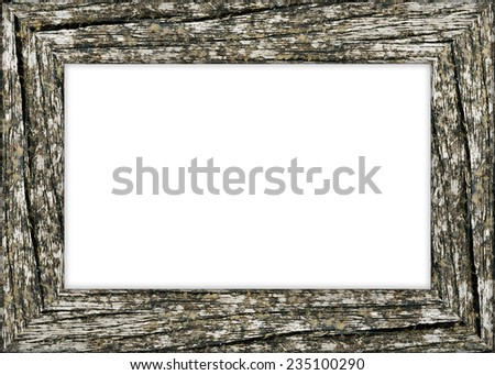 Old blank wooden frame - stock photo