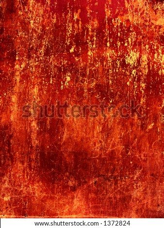 Old blood-red Wall background - stock photo