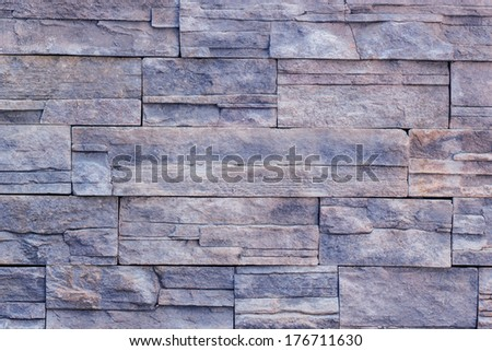 Old blue Bricks Wall Pattern  background