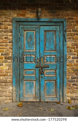 Old Blue Grunge Door