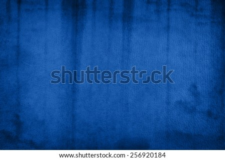 old blue leather - stock photo