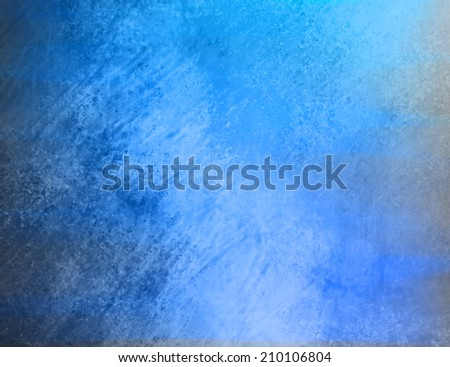 old blue vintage background paper with distressed grunge texture and soft lighting - stock photo