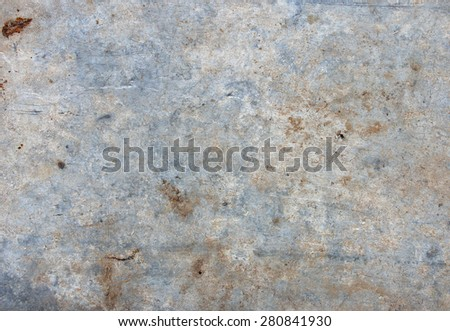 old blue-white dirty metal sheet with scratches, texture - stock photo