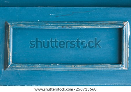 Old blue wood frame background  - stock photo
