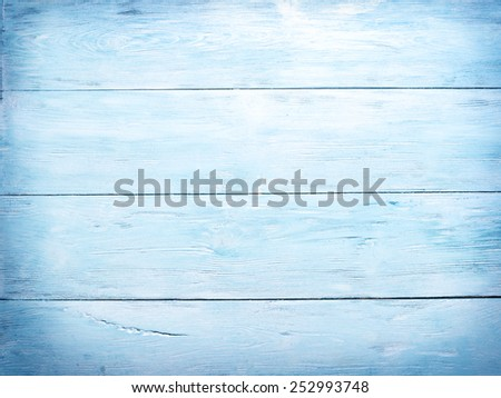 Old blue wooden background. - stock photo