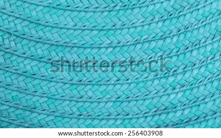 Old blue woven wood pattern  - stock photo