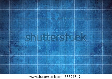 old blueprint background texture. - stock photo