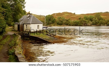 Old Boathouse on Loch Duich