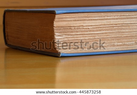 old book close up - stock photo