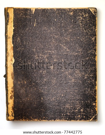 Old Book Cover - stock photo