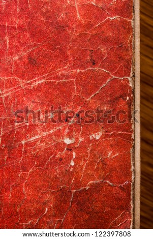 Old book cover background with scratches - stock photo