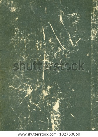 Old book cover, green vintage texture