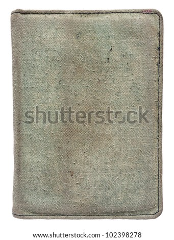 Old book cover is isolated on a white background - stock photo