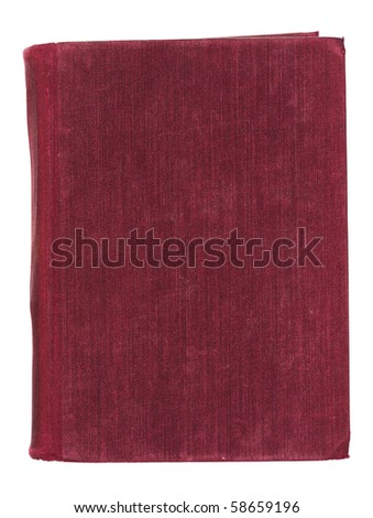 Old book cover isolated on White