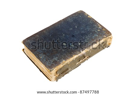Old Book Cutout - stock photo