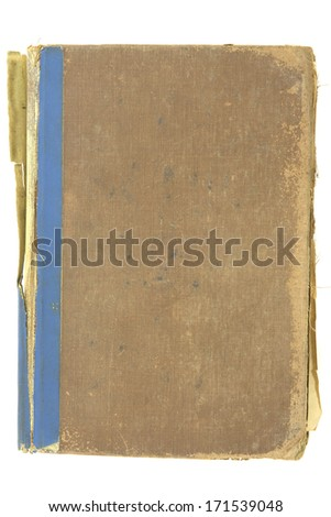 Old book, great texture, isolated on white - stock photo
