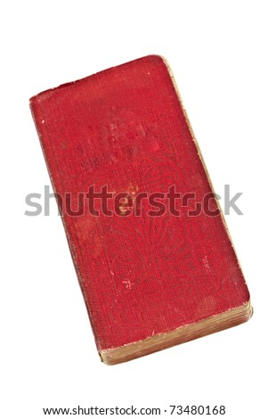 Old book isolated on white
