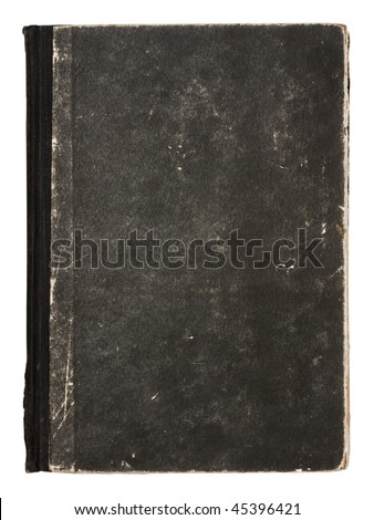 old book isolated on white background with clipping path - stock photo