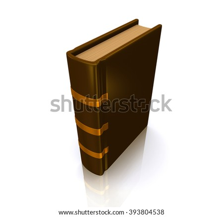 Old book isolated on white with clipping path.