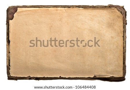 old book page. grunge textured background - stock photo