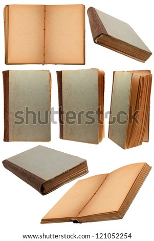 Old book set on white background