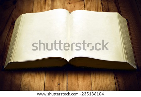 Old Book template. You can put any design you need on its page - stock photo
