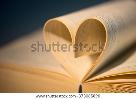 old book with heart / Love - stock photo