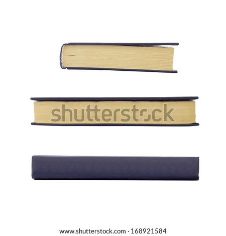 Old book with no labels. Isolated on white background