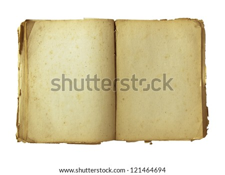 old book with precise CLIPPING PATH - stock photo