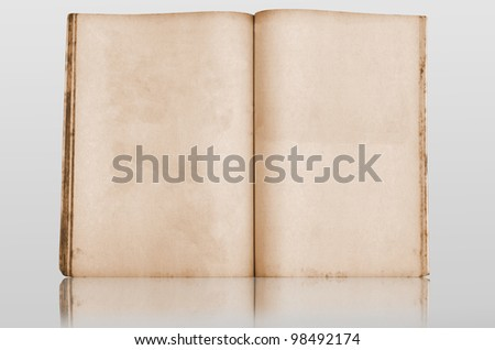 Old book with reflection - stock photo