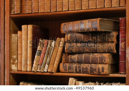 Old books. - stock photo