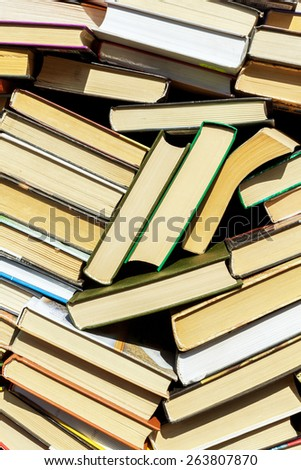 old books background  - stock photo