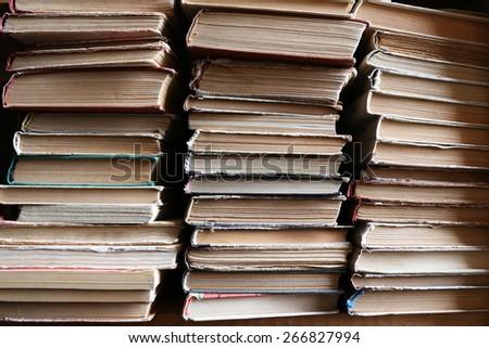 Old books, closeup - stock photo