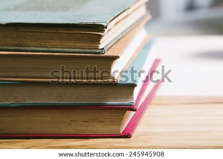 Old books on a desk