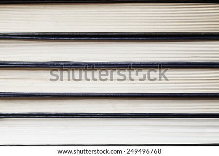 Old books stack, close up  - stock photo