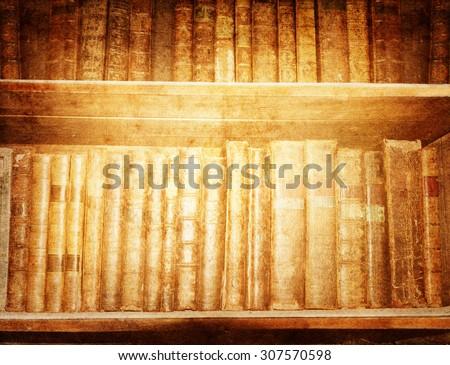 Old books. Vintage background. - stock photo