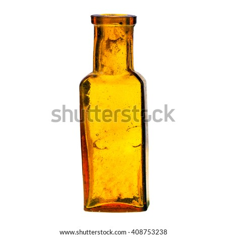 Old bottle isolated on white background - stock photo