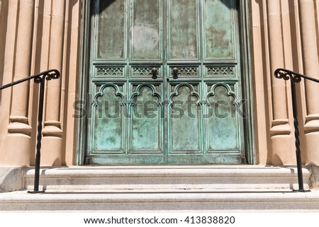 Old Brass Church Entrance Doors