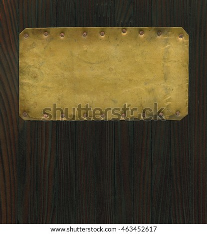 Old brass plate