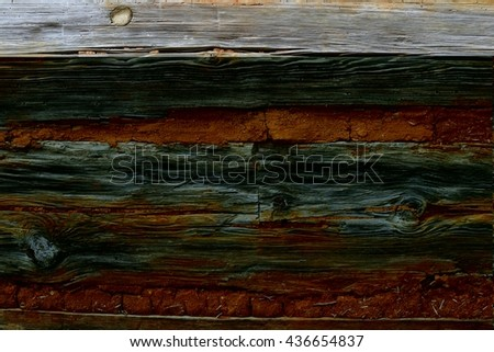 Old brick and wooden wall background