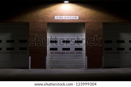 Old Brick Fire Station - stock photo