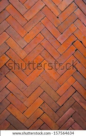 Old Brick footpath background  - stock photo