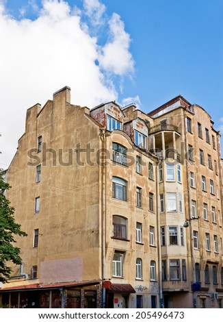 Old brick living house, Saint Petersburg, Russia