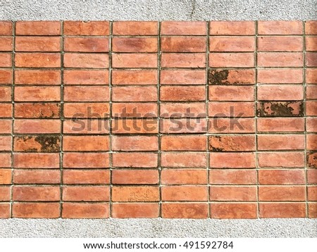 Old brick pattern on wall. Abstract background. Vintage filtered.
