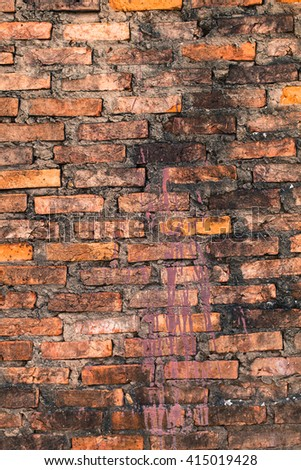 old brick wall as a background.Red brick wall background. Brick wall with copy space. Stone texture