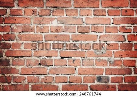 old brick wall background - stock photo