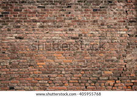 Old brick wall background. Grunge texture.  - stock photo