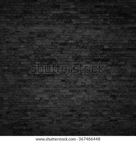 old brick wall background texture basement interior - stock photo