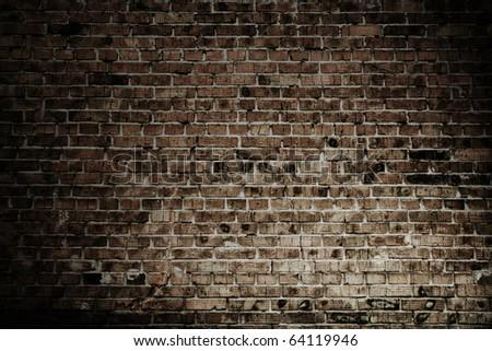 old brick wall texture - stock photo