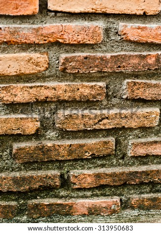 Old brick wall texture in a background image